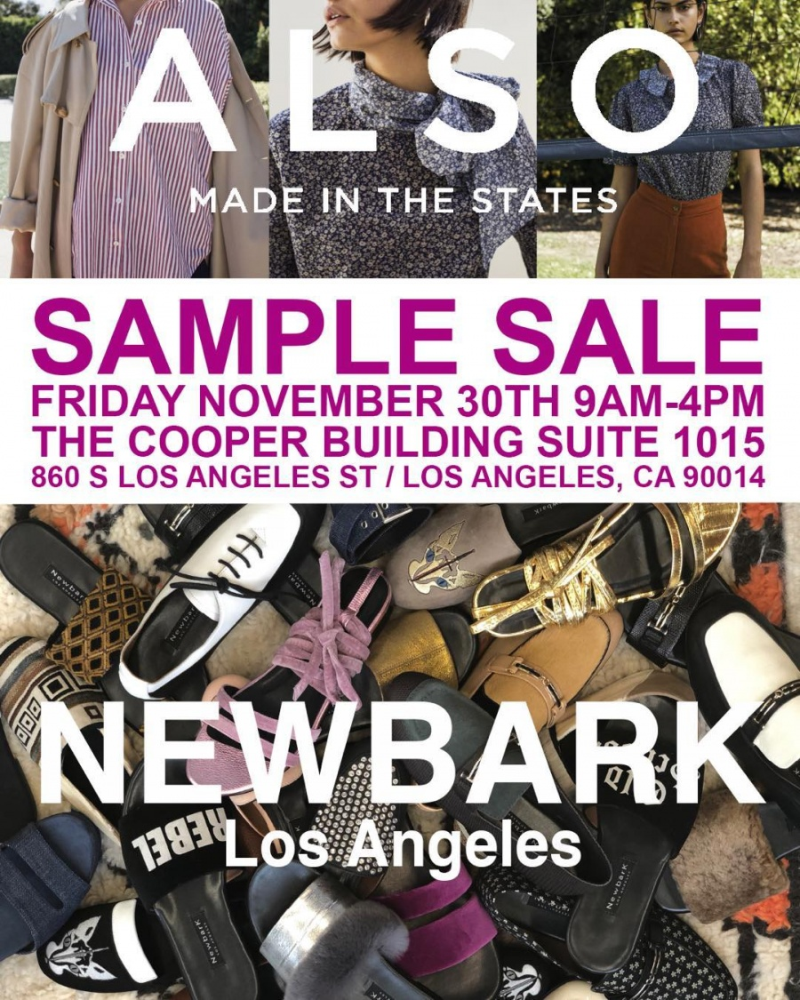 2a24888ef185 Also x NewbarK Sample Sale -- Sample sale in Los Angeles