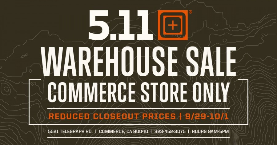 5.11 Tactical Warehouse Sale -- Sample sale in Commerce